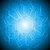 Tech-Hintergrund mit Sechskant-Textur