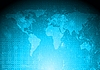 세계지도 추상적 인 디자인 | Stock Vector Graphics