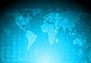 Blaue Weltkarte | Stock Vektrografik