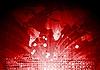 roter Hintergrund mit Weltkugel