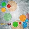 ID 3107205 | Bunte Kreise auf Grunge-Hintergrund | Stock Vektorgrafik | CLIPARTO