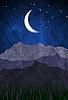 Nacht-Hintergrund im Grunge-Stil