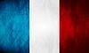 Französisch Grunge-Flagge
