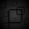 Tech geometrischen schwarzen Hintergrund mit Quadraten
