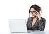 ID 3023070 | Schöne Geschäftsfrau liest Nachrichte | Foto mit hoher Auflösung | CLIPARTO