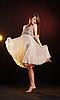 ID 3023090 | Piękna młoda kobieta taniec | Foto stockowe wysokiej rozdzielczości | KLIPARTO