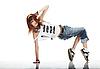ID 3023924 | Nette junge Frau tanzt | Foto mit hoher Auflösung | CLIPARTO