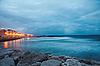 ID 3023941 | Küste und Atlantischer Ozean nach Sonnenuntergang - Lissabon | Foto mit hoher Auflösung | CLIPARTO