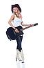 ID 3024241 | Cowboy-Mädchen mit akustischer Gitarre | Foto mit hoher Auflösung | CLIPARTO
