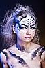 ID 3024267 | Weißer Tiger - schöne Modell-Frau mit Bodypainting | Foto mit hoher Auflösung | CLIPARTO