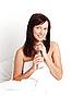 ID 3024277 | Młoda piękna kobieta pije koktajl mleczny | Foto stockowe wysokiej rozdzielczości | KLIPARTO