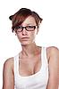 Całkiem studentka w okularach | Stock Foto