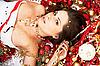 ID 3032444 | 美丽的黑发低洼圣诞装饰之中 | 高分辨率照片 | CLIPARTO