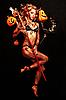 Piękne Diabeł z trident | Stock Foto