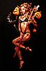 Piękne Diabeł z trident i Halloween dynie | Stock Foto
