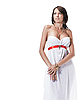 ID 3032451 | 年轻漂亮的女身穿白色长裙古典风格 | 高分辨率照片 | CLIPARTO