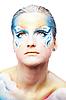 ID 3032467 | Portraite piękne kobiety z motyla malowania ciała | Foto stockowe wysokiej rozdzielczości | KLIPARTO