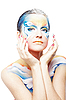 ID 3032468 | Schöne Frau mit Bodypainting als Schmetterling  | Foto mit hoher Auflösung | CLIPARTO