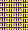 ID 3024012 | Jednolite tło z uśmiechem i stokrotki | Stockowa ilustracja wysokiej rozdzielczości | KLIPARTO