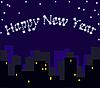 Новогодний ночной город | Иллюстрация