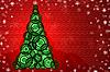 Kartka świąteczna z choinką | Stock Illustration