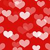Roter nahtloser Hintergrund mit Herzen | Stock Illustration