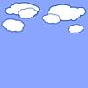 Fondo azul con nubes | Ilustración