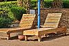 ID 3082397 | Paar von Liegestühlen am Strand | Foto mit hoher Auflösung | CLIPARTO