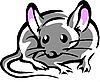 Мышь с большими розовыми ушами | Векторный клипарт
