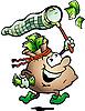 钱麻袋狩猎现金 | 向量插图