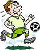 Векторный клипарт: мультяшный футболист