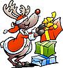 Rentier mit Weihnachtsgeschenken