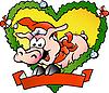 Glückliches Weihnachts-Schwein