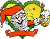 betrunkenen Weihnachtsmann