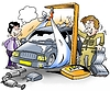 ID 3348309 | Samochód jest ważone przed inspekcja dół | Stockowa ilustracja wysokiej rozdzielczości | KLIPARTO