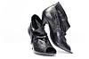Czarne buty kobiet | Stock Foto