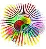Abstrakcyjne tło z kręgów | Stock Vector Graphics