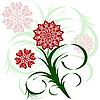 꽃 장식 | Stock Vector Graphics