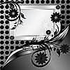 Srebrna metalowa płytka z ornamentem | Stock Vector Graphics