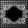 금속 질감에 장식 프레임 | Stock Vector Graphics