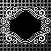 Ornamentaler Rahmen auf Metall-Textur | Stock Vektrografik