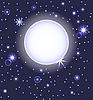 Mond auf dem Nachthimmel mit Sternen | Stock Vektrografik