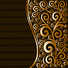Goldenes florales Muster | Stock Vektrografik