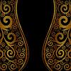 Czarne złoto kwiatowy ornament | Stock Vector Graphics