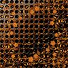 Grunge-Metall-Textur mit floralem Ornament