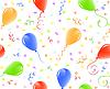 nahtloser Hintergrund mit Luftballons und Konfetti