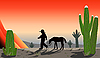 Junge in der Wüste