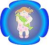 사탕 소녀 | Stock Vector Graphics
