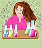 화학자 소녀 | Stock Vector Graphics