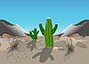 Kakteen in der Wüste | Stock Vektrografik